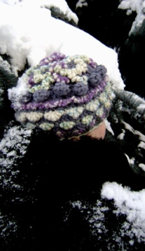 """Фото. Комплект """"Зимы застывший поцелуй"""" (шапка, шарф, митенки). Фриформ."""