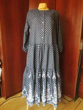 Фото. Платье из купонной джинсы. Автор работы - Юля Мячик