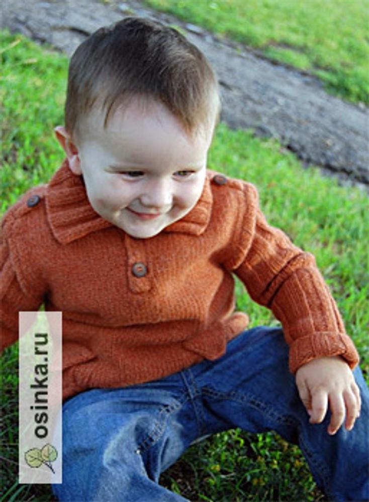 Фото. Свитер для мальчика (спицы).