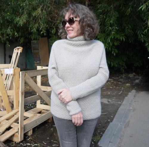 Фото. Пуловер MIISU by Regina Moessmer. Пряжа Rowan Kid Classic.  Автор работы - Иририна