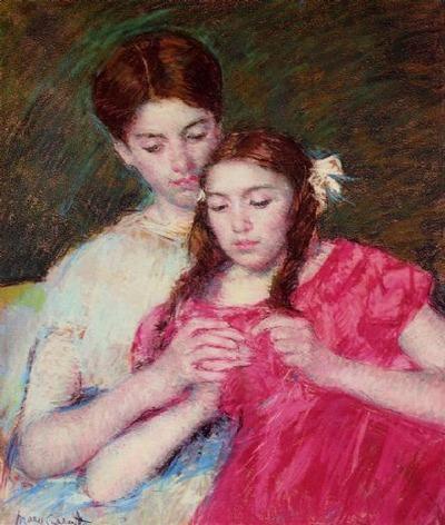 """Фото. """"Урок вязания крючком"""", Mary Cassat"""