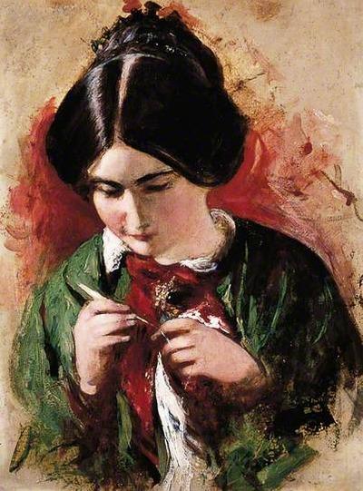"Фото. ""The crochet worker"", Mary Ann Purdon"