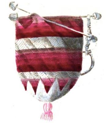 Фото. Такие сумочки-кошельки из шелковой пряжи предлагалось вязать читательницам журнала Pénélopé.
