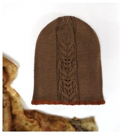 Фото. Двойная двухцветная шапочка.  Автор работы - глафирая
