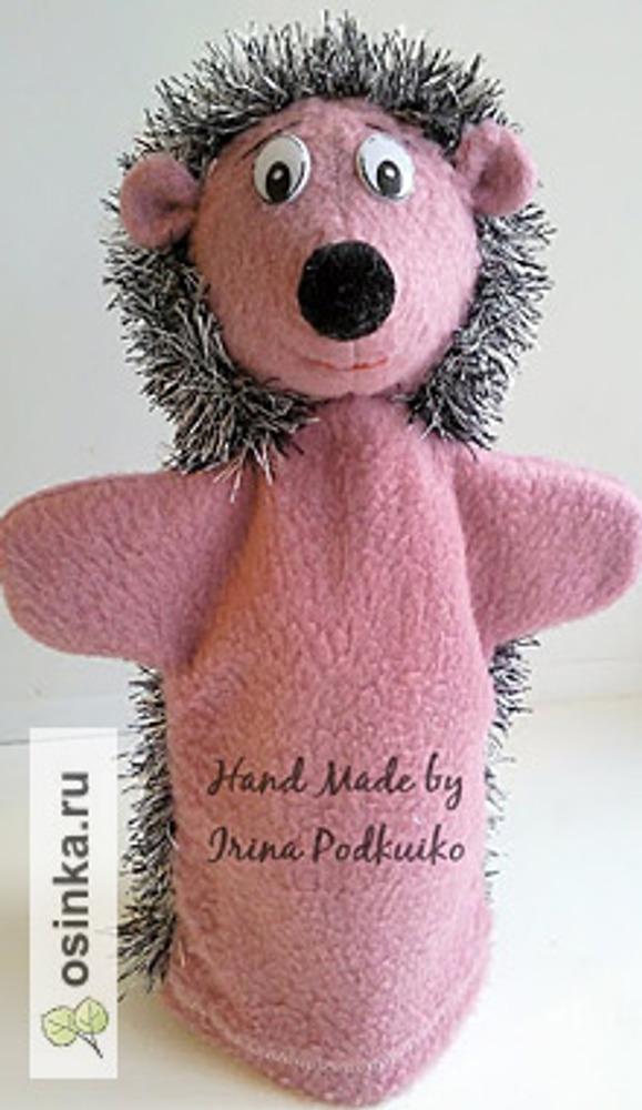 Фото. Куклы для детского перчаточного театра. Кроме Ежика, там есть и Зайка, и Волк, и Медведь, и даже проказница-Маша. Автор buhekz .