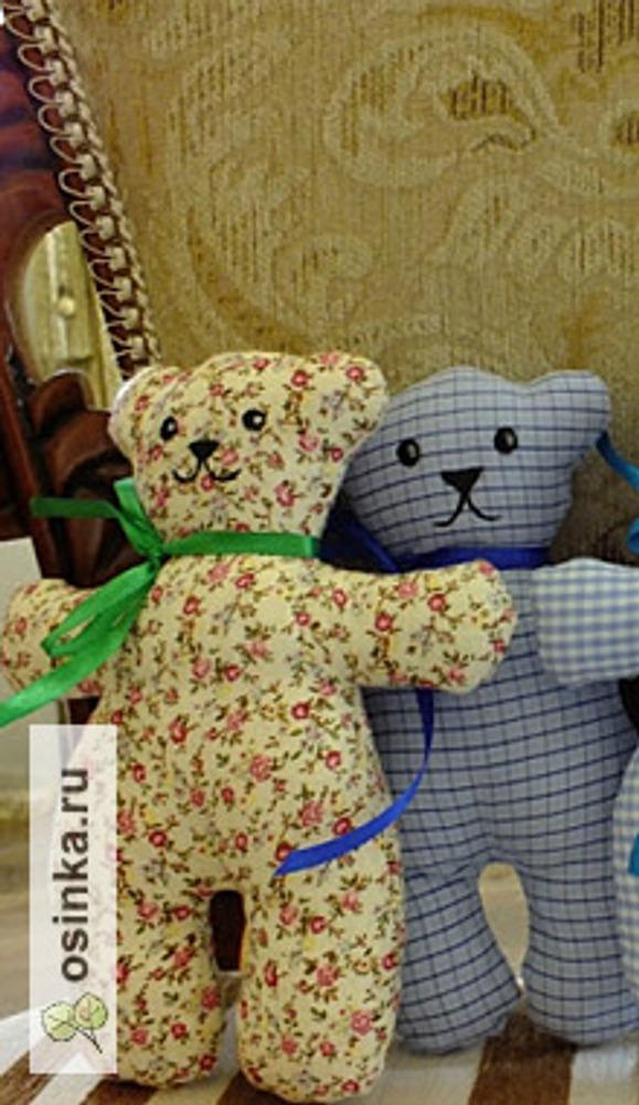 Фото. Нежные текстильные медвежата стануь первыми игрушками для самых-самых маленьких! Автор: Маруся 3773 .