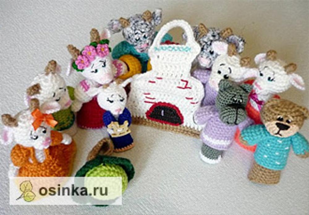 Фото. Вязаный кукольный театр смастерила darina777 .