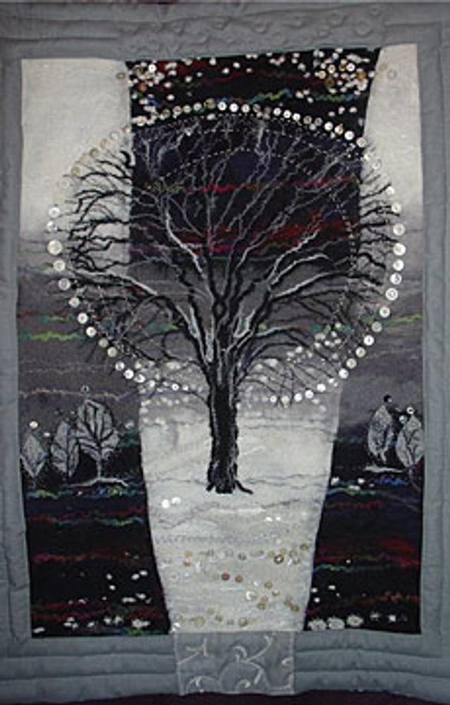 """Фото. Автор работы - Маруся 61 . Работа """"Снег идет"""". Третье место на конкурсе ноября 2009 года """"Музыка моей души"""" , ноябрь 2011 в разделе Валяние ."""