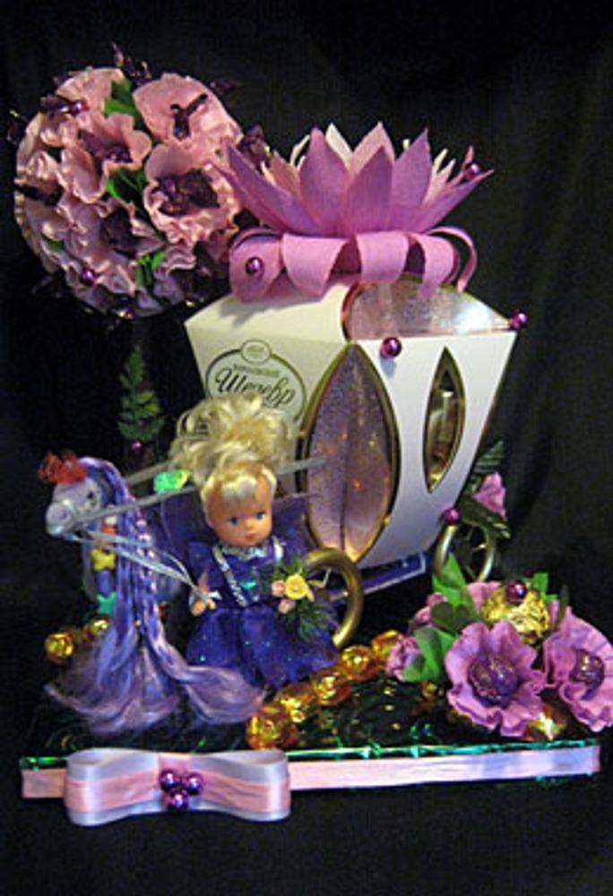 """Фото. Автор работы - МариС . Композиция для маленькой девочки """"Карета для принцессы Чернички""""."""