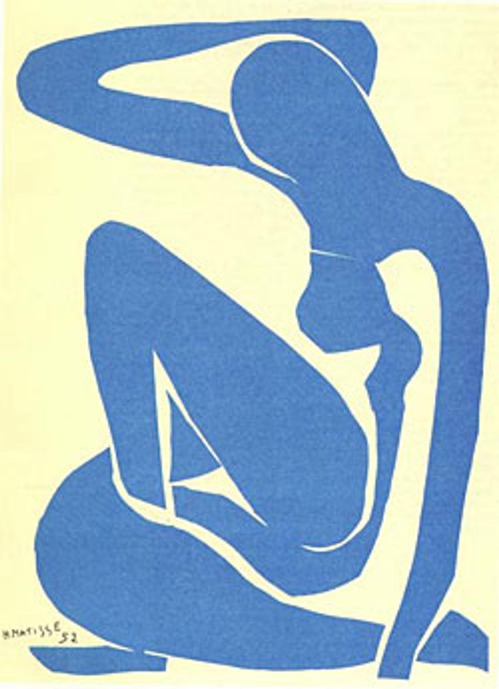 "Фото. ""Голубая обнаженная"", Анри Матисс, 1952 г.."