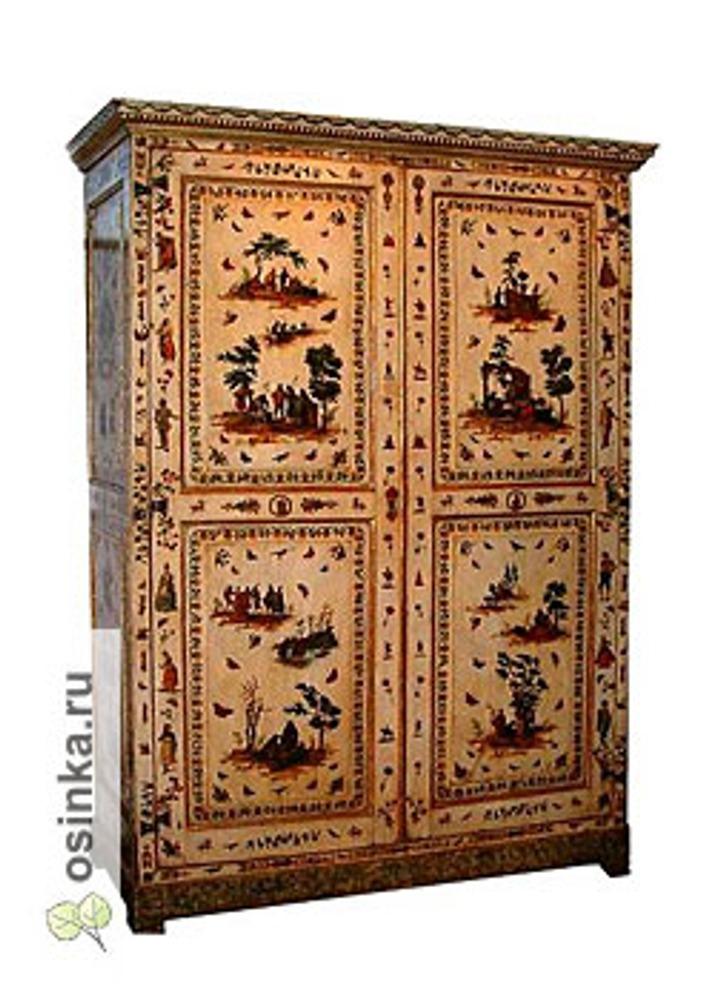 "Фото. Шкаф, декорированный в технике ""Lacca Povera"", Италия, XVIII в."