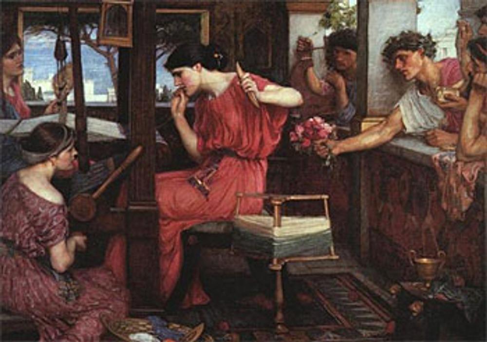 """Фото. Джон Уильям Уотерхаус """"Пенелопа, ждущая Одиссея"""", 1890."""