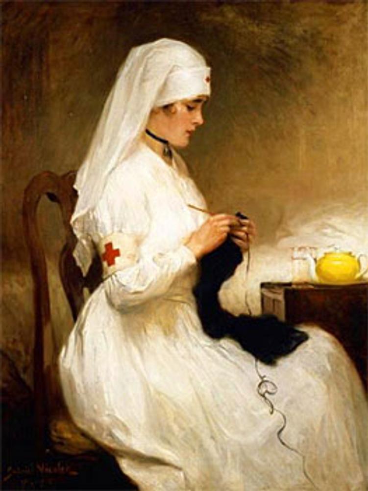 "Фото. Gabriel Niscolet Nurse ""Portrait of a Nurse from the Red Cross""."