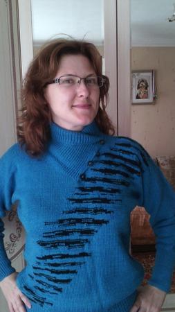 """Фото. Вот такой свитерок """" березка """". Автор работы - У моря"""