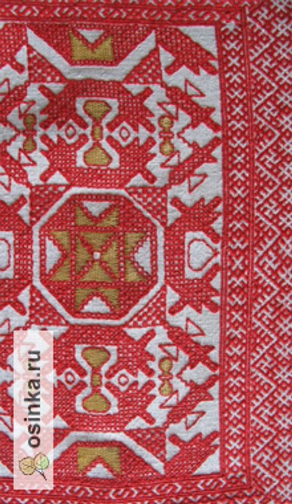 Фото. Вышивка в технике олонецкая роспись.