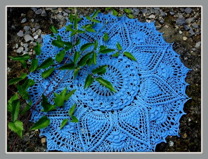 """Фото. Салфетка """"Очарование"""" в голубом цвете. Автор работы - Olga_Mt"""