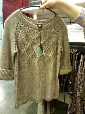Фото. Как-то мы увидели в магазине свитерок на дочку, но качество не очень.