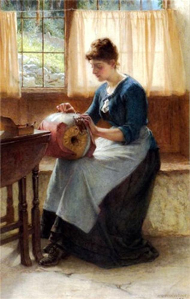 """Фото. William Harris Weatherhead (Великобритания), """"Кружевница"""", 1889 г."""