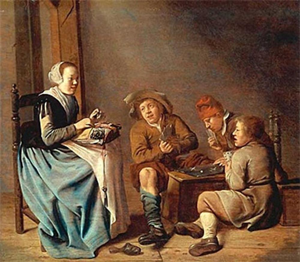 "Фото. Ян Минсе Моленар, (Нидерланды,  1610-1668), ""Кружевница""."