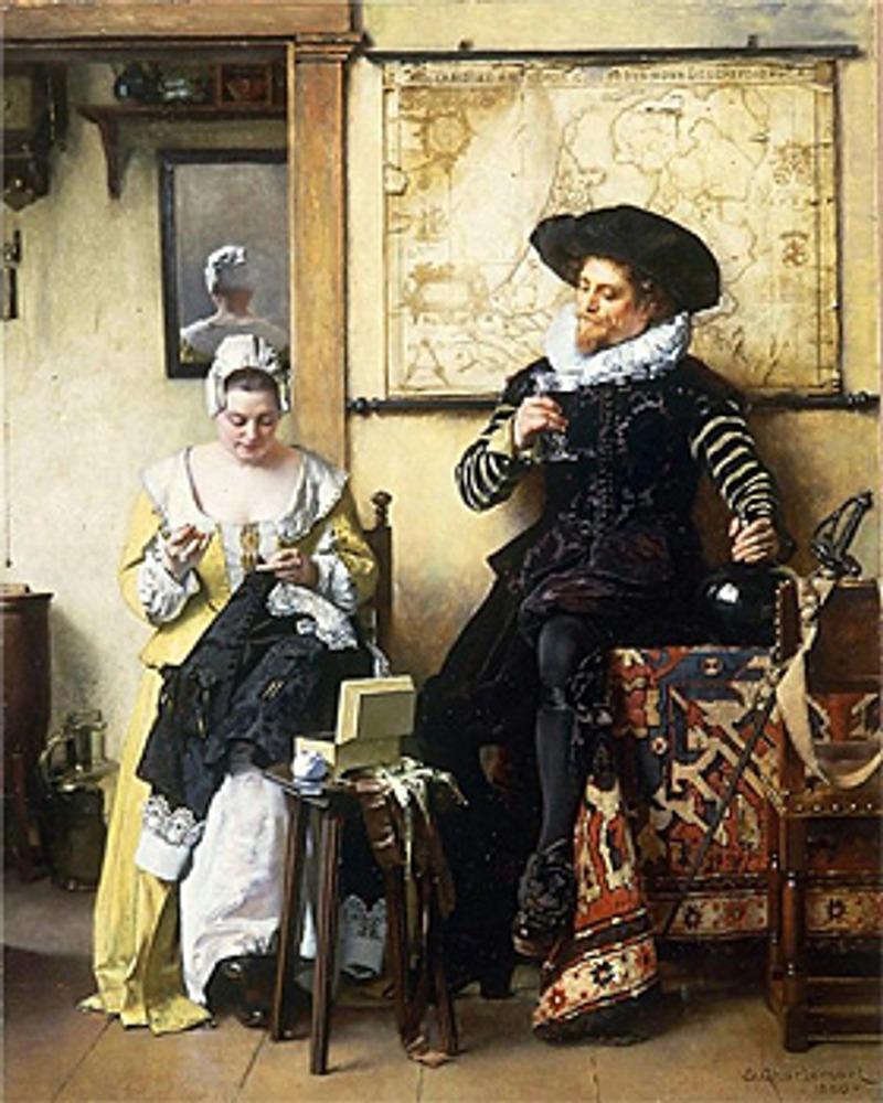 "Фото. Eduard Charlemont (Австрия), ""Кружевница"", 1889 г."