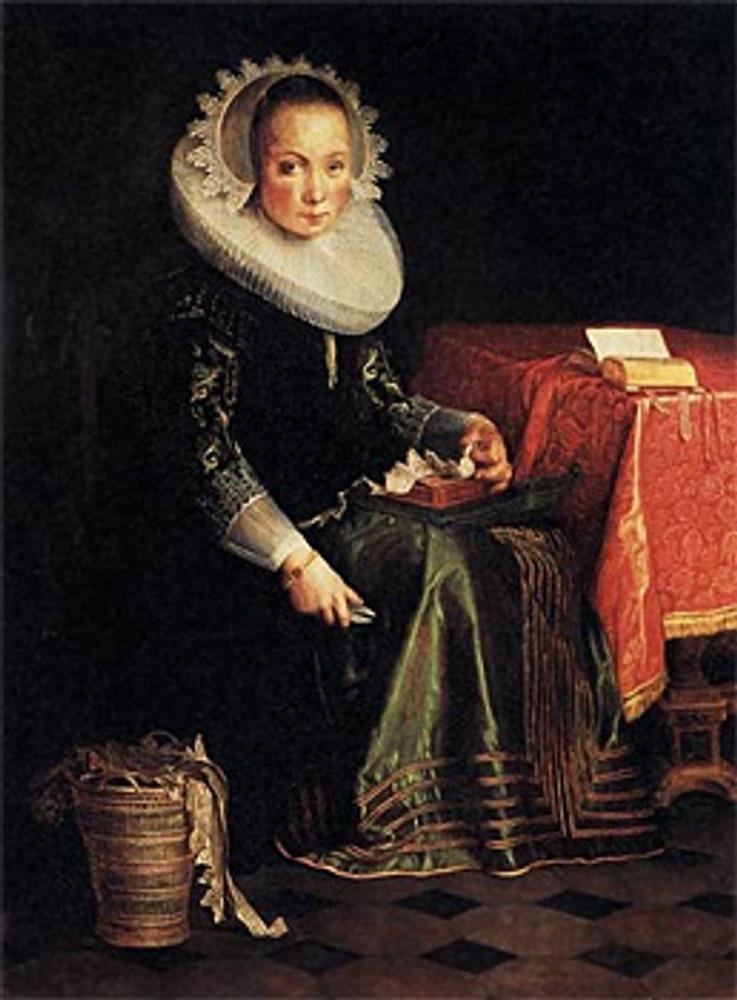 """Фото. Эйтевал Иоахим (Wtewael Joachim) (Голландия, 1566—1638), """"Portret van Eva Wtewael"""", 1628 г."""