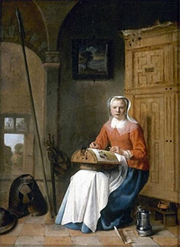 "Фото. Питер Кодде (Нидерланды, 1599— 1678), ""Кружевница""."