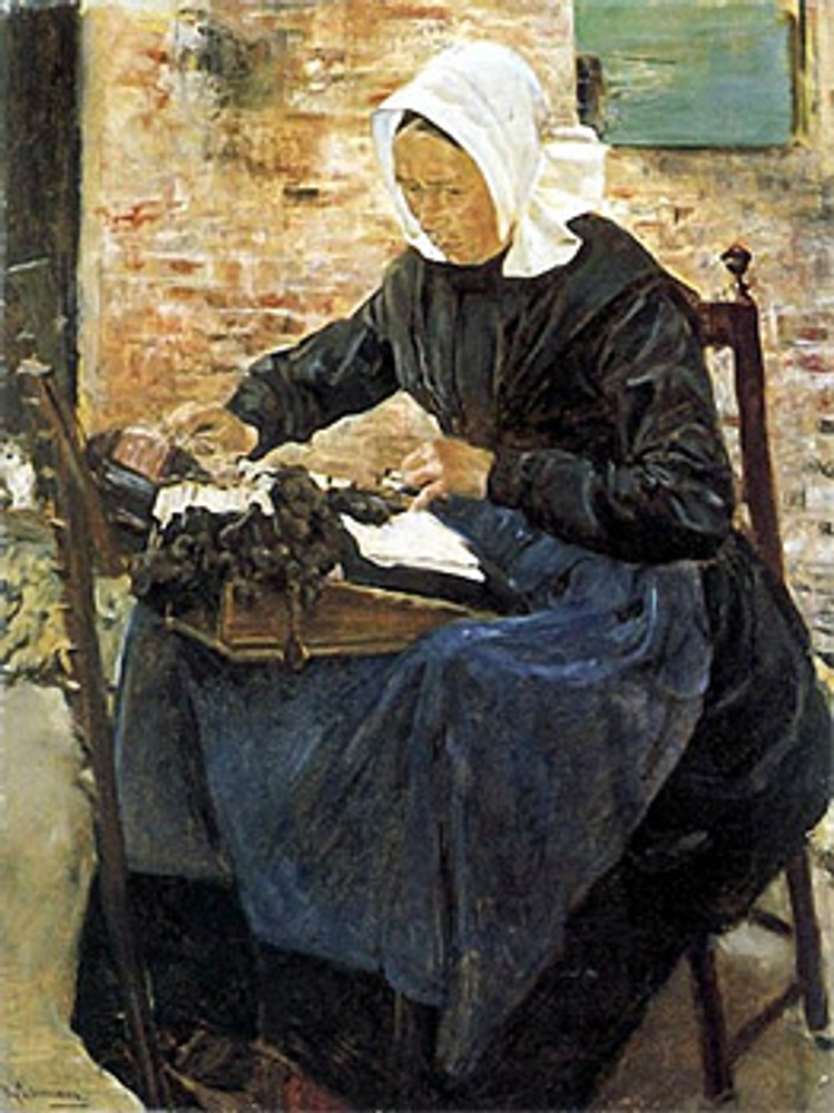 "Фото. Макс Либерман (Германия), ""Кружевница"", 1881 г."