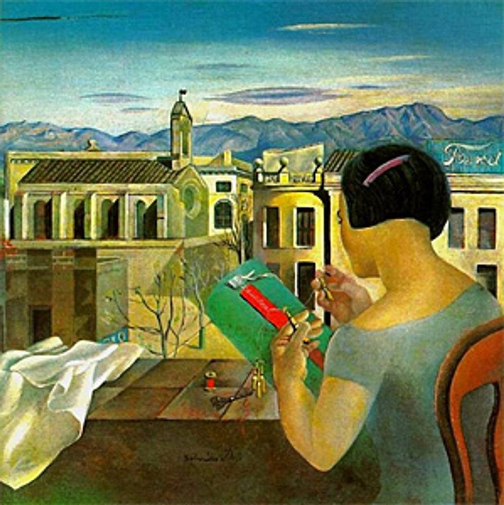 """Фото. Сальвадор Дали, """"Девушка из Фигераса"""", 1925 г., Театр-Музей Дали в Фигерасе"""