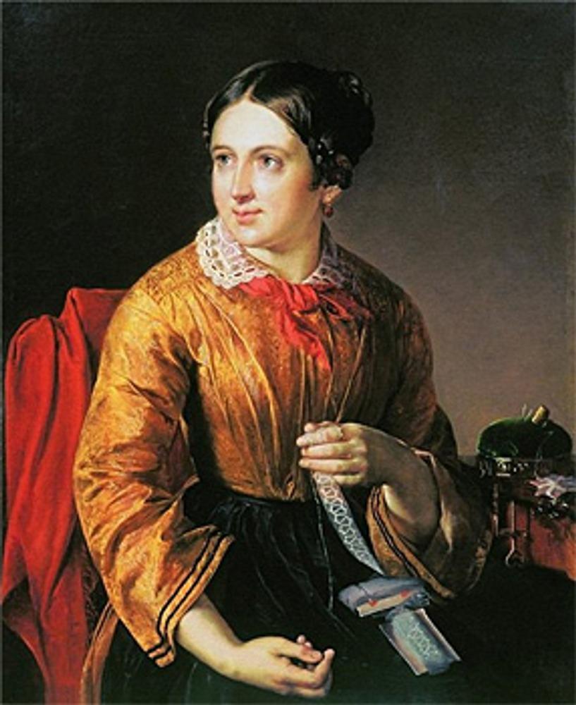 "Фото. Василий Тропинин ""За прошивками"", 1830-е г."