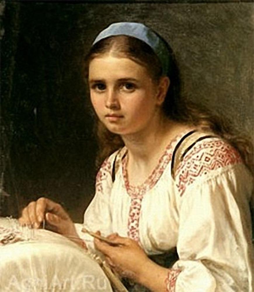 "Фото. Василий Верещагин ""Кружевница"", 1890-е гг."
