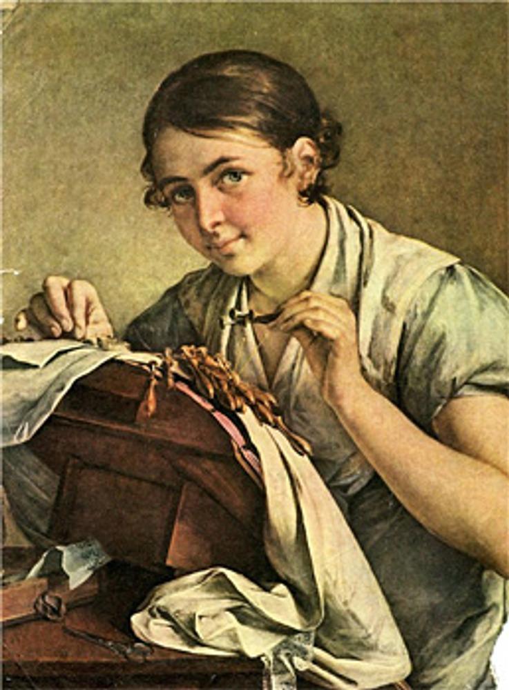 """Фото. Василий Тропинин """"Кружевница"""", 1823 г."""