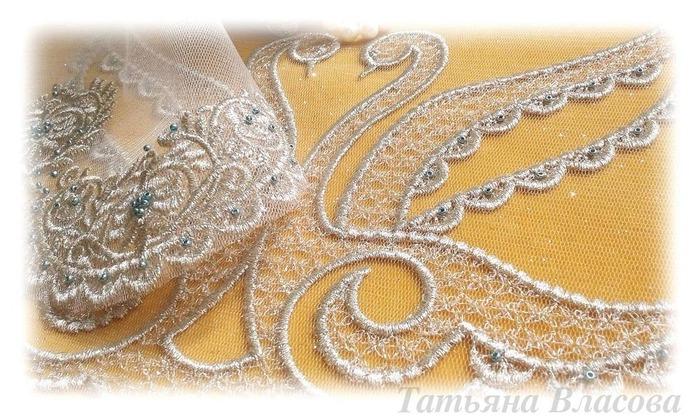 Фото. Набор для венчания, машинная вышивка.  Автор работы - Anfia