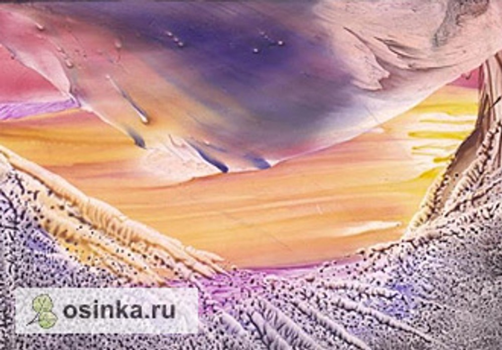 Фото. Пейзаж в технике энкаустики. Автор birta
