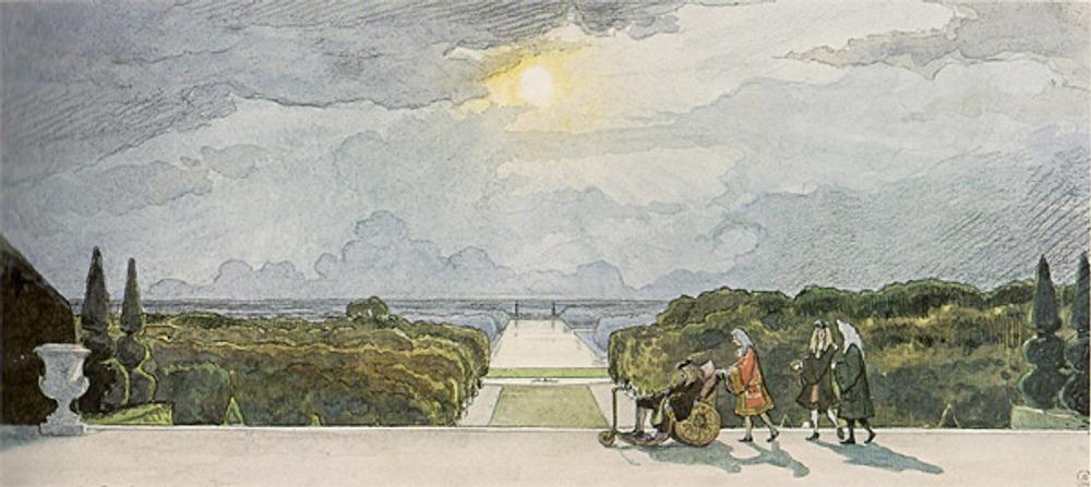 "Фото. Бенуа А. ""Версаль. Прогулки короля"", 1896 г."