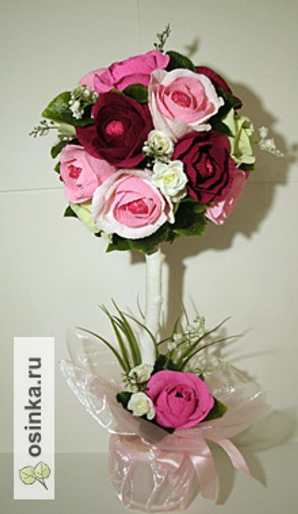 Фото. Топиарий из роз. Автор работы - Ляля75 .