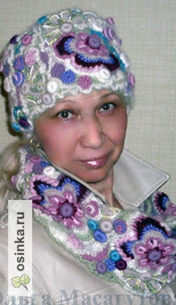 Фото. Шапка-кубанка и шарфик. Автор работы - OlgaKm .