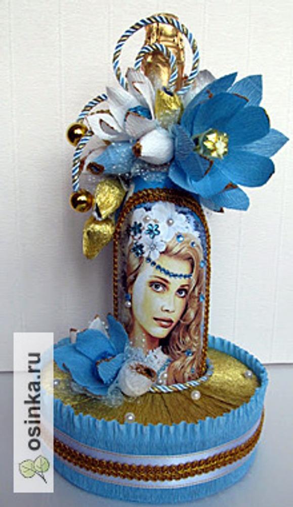 Фото. Декор конфетами праздничного шампанского - почему бы и нет. Автор работы - Shevchat ..