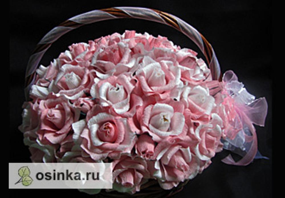 Фото. Корзинка с розами. Автор работы - .