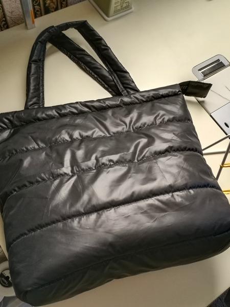 Фото. Строгая сумка из темной стежки - в отличие от кожаной, легкая и ее можно стирать. Автор работы - narzisik