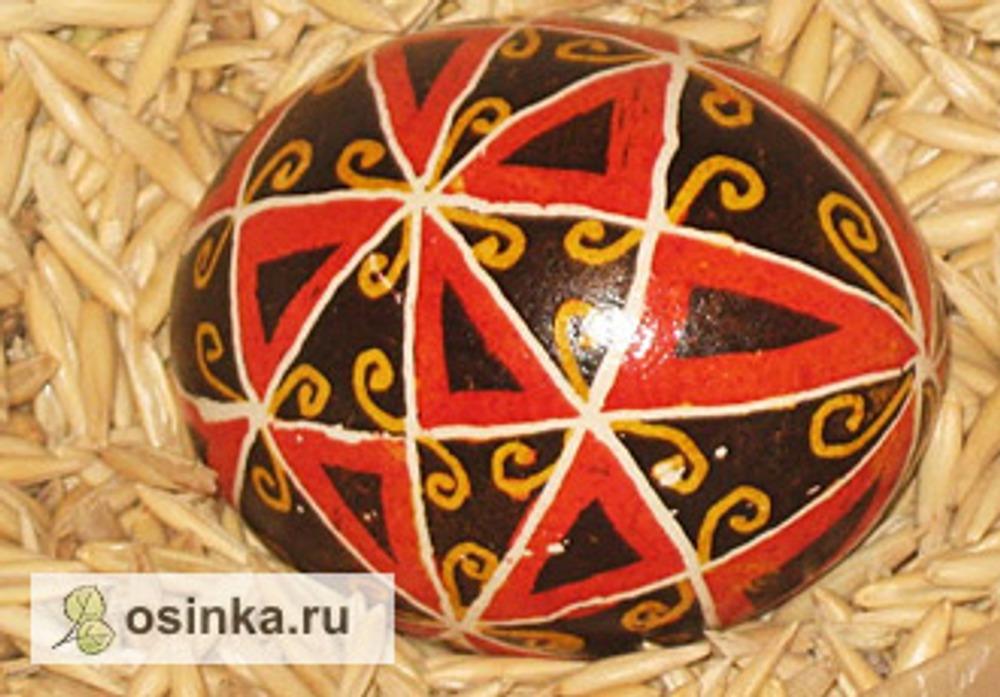 Фото. Писанка-сорококлинка, оберег для дома. Автор работы - Галка Черная .