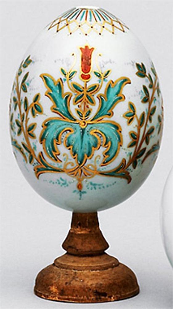 Фото. Фарфоровое пасхальное яйцо. Императорский фарфоровый завод, 1814 г.