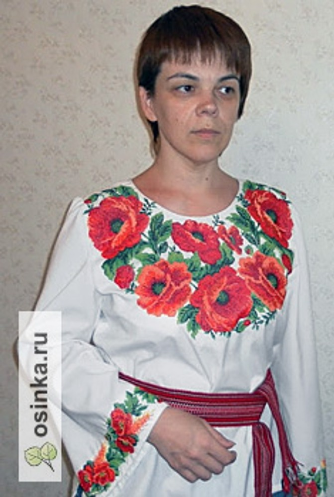 Фото. Рубаха, вышитая бисером. Автор работы - Osgadd .