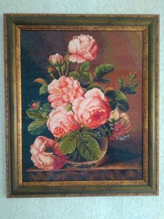Фото. Ваза с розами.  Автор работы - Lirusik