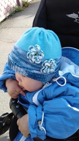 Фото. Детская шапочка из остатков кашемира.  Автор работы - Pampulya