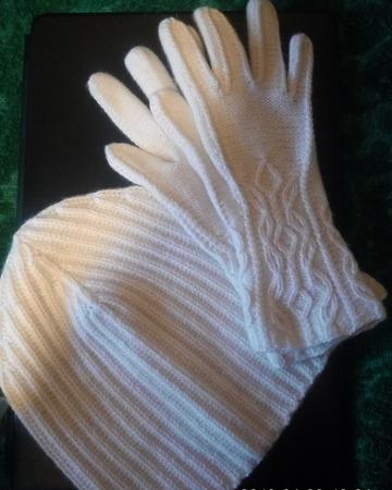 Фото. Шапочка + перчатки, 100% кашемир.  Автор работы - Svetik_che