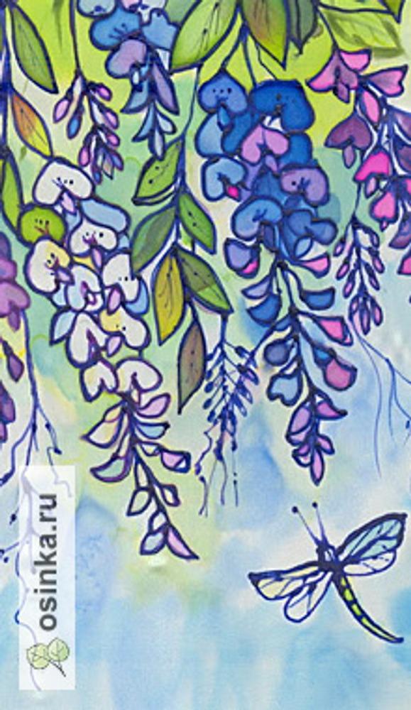 Фото. Панно. Холодный батик,  цветной контур. Автор работы - Волжанка12 .