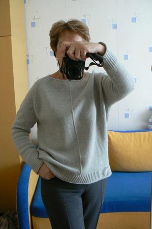 Фото. Хейворд из светло-серого кашемира с пайетками. Автор работы - Natal ka