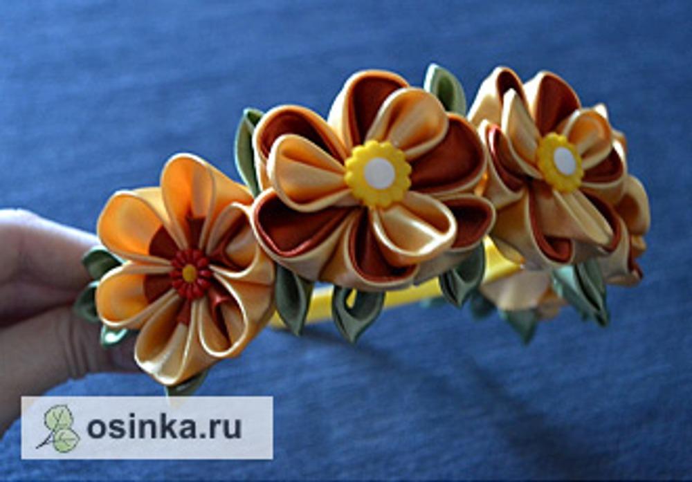 Фото. Ободок для девочки, украшенный цветочками. Автор работы - Бармалейкина .