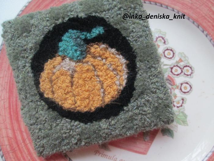 Фото. Тыква. Вышивка в ковровой технике. Автор работы - muss88