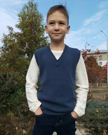 "Фото. Жилет для сына ""Total_Jean's_Vest"".  Автор работы - Zolushkina_Tapetka"